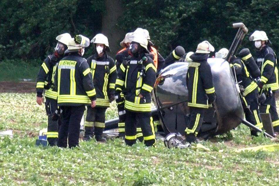 Hubschrauber-Crash in Südhessen! Großeinsatz der Feuerwehr wegen Explosionsgefahr