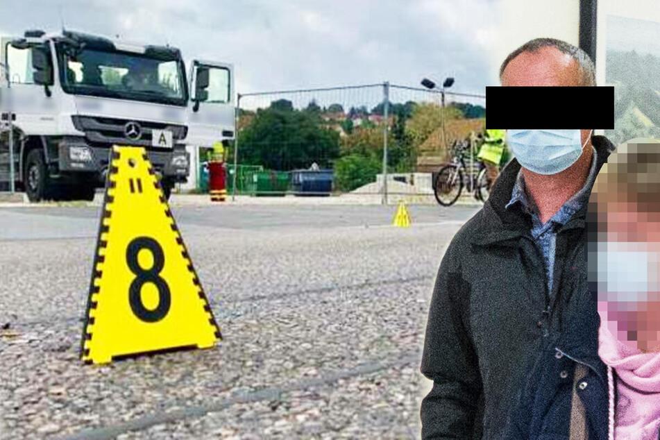 """Lkw-Fahrer rollt über Radfahrer: """"Es klang, als hätte ich einen Metallzaun gestreift"""""""