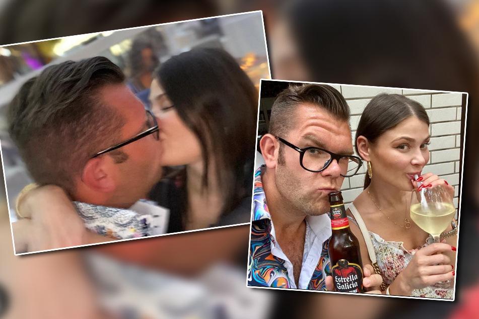 Guten Freunden gibt man ein Küsschen: Dennis und Stefanie scheinen sich prächtig zu verstehen.