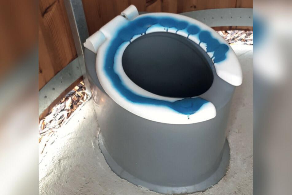 Im Limbacher Verkehrsgarten wurde im Oktober 2020 das neue WC mit blauer Farbe besprüht. Diesen Fall konnte die Polizei nun aufklären.
