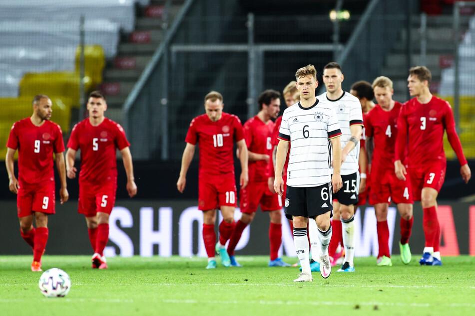 Schon wieder brachte Deutschland eine Führung nicht über die Zeit! Joshua Kimmich (v.) war darüber alles andere als begeistert.