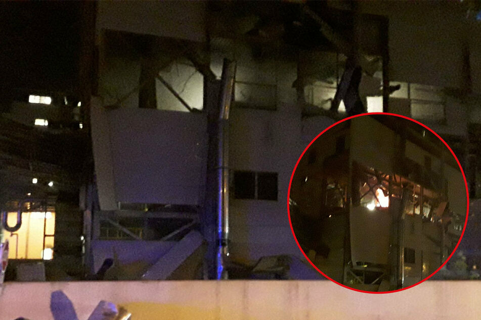 Die tschechische Feuerwehr veröffentlichte Bilder des Unglücks auf Twitter.