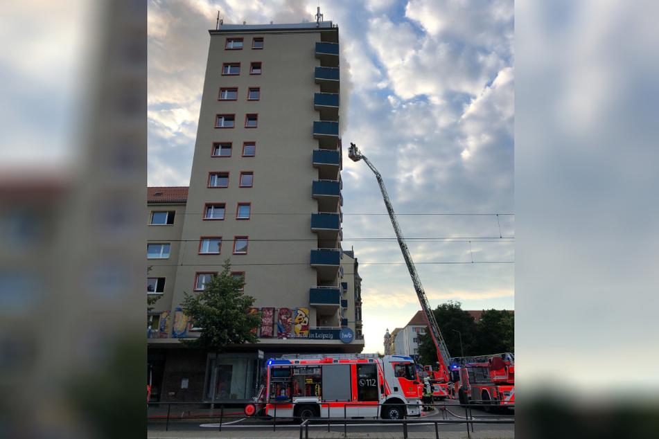 In der neunten Etage des Hochhauses brach das Feuer aus.