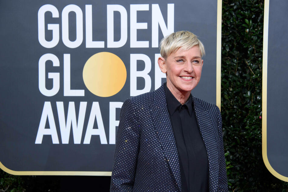 Ellen DeGeneres before the coronavirus pandemic at the 77th Annual Golden Globe Awards in January.