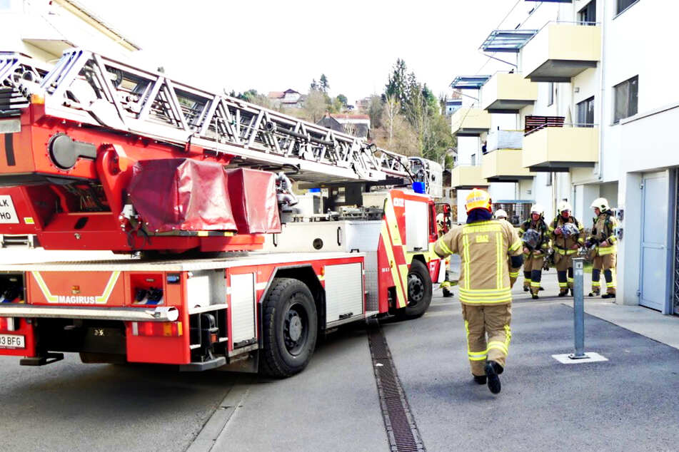 Die Feuerwehr löschte den Brand und rettete zwei Katzen.