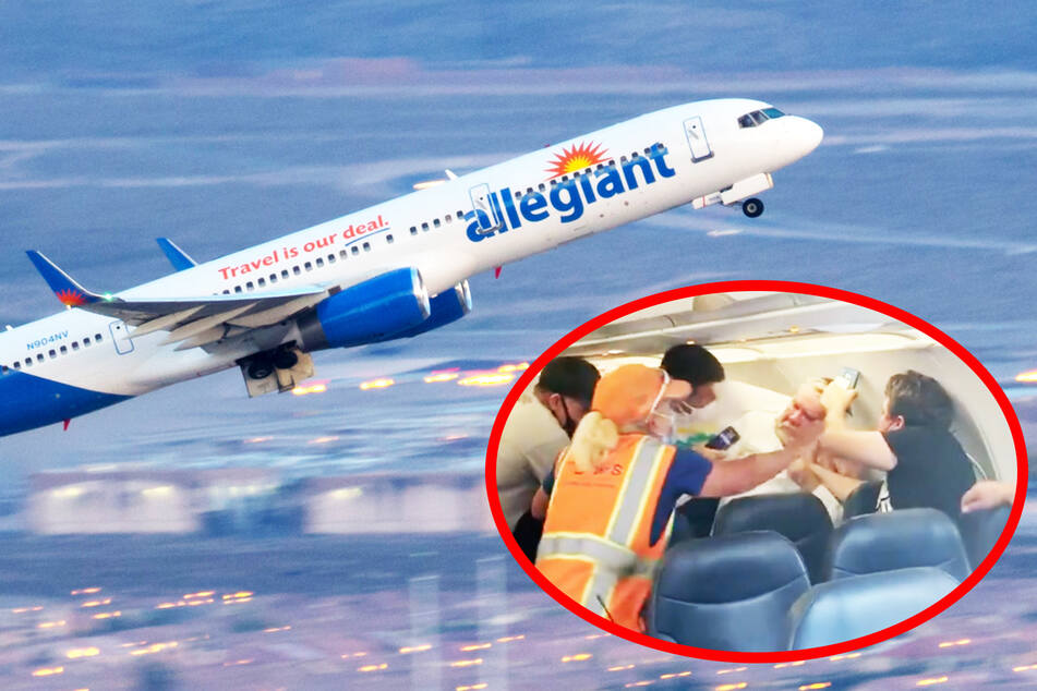Punches thrown on a plane after one man refuses to wear a mask