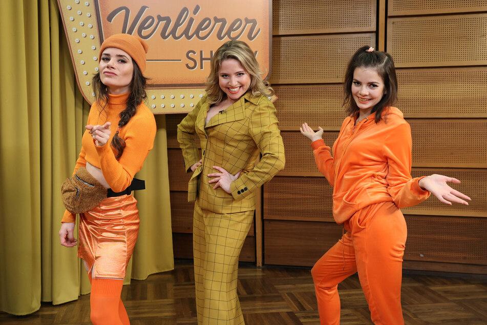 """Joyce Ilg, Caroline Frier und Maria Clara Groppler am Set von """"Queens of Comedy""""- ab Freitag 22.30 Uhr im ZDF. Mit dabei auch Ina Paule Klink."""