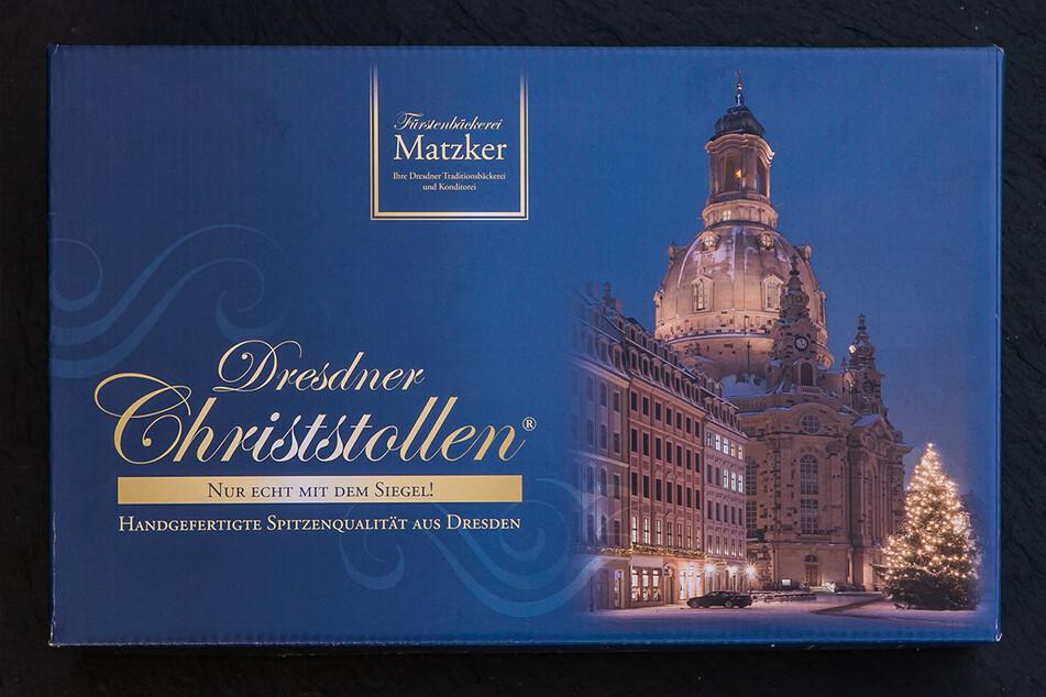 Dresdner Christstollen im Geschenkkarton.