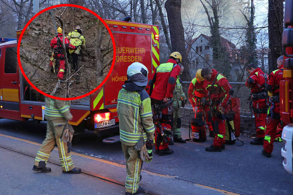 Dresden: Zwei Frauen an der Mordgrundbrücke in Not: 37-Jährige stürzt 15 Meter den Hang hinab