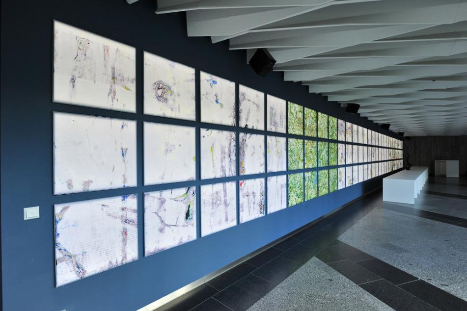 Künstler gestalteten die Wände im neuen Congresscenter: Im Silva-Foyer ist eine Arbeit von René Seifert aus Berlin zu sehen.