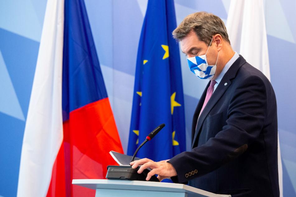 Markus Söder (53, CSU), Ministerpräsident von Bayern, nach der Video-Schalte mit dem tschechische Premierminister Babiš.