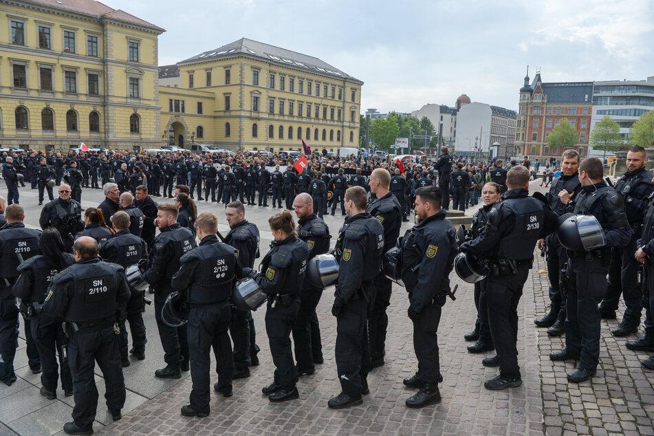 Die 1.Mai- Demonstration in Leipzig im Jahr 2019. So wird und darf es aufgrund von Corona dieses Jahr nicht wieder aussehen.