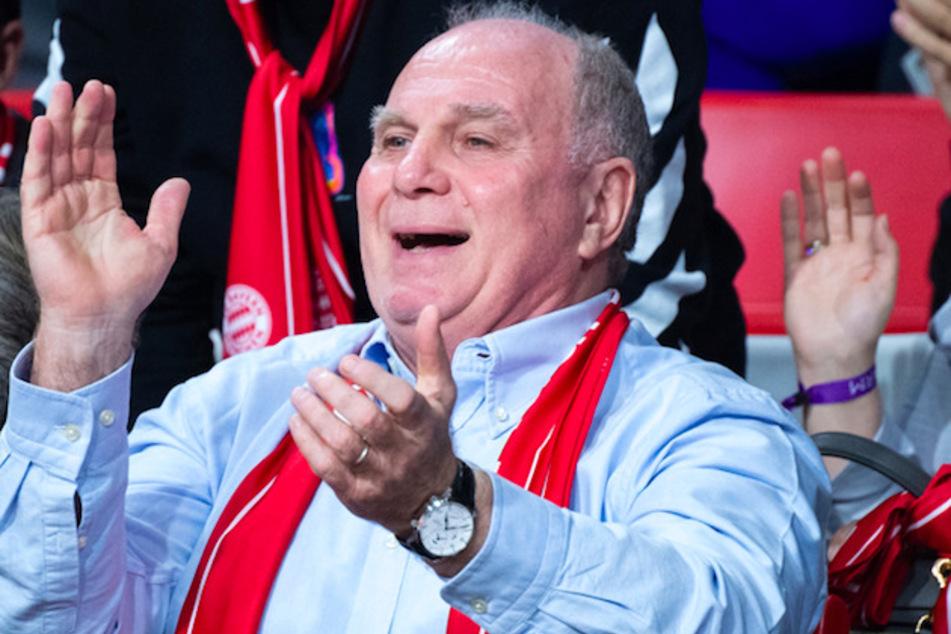 Uli Hoeneß (69) bei einem Basketball-Spiel des FC Bayern im Jahr 2019.