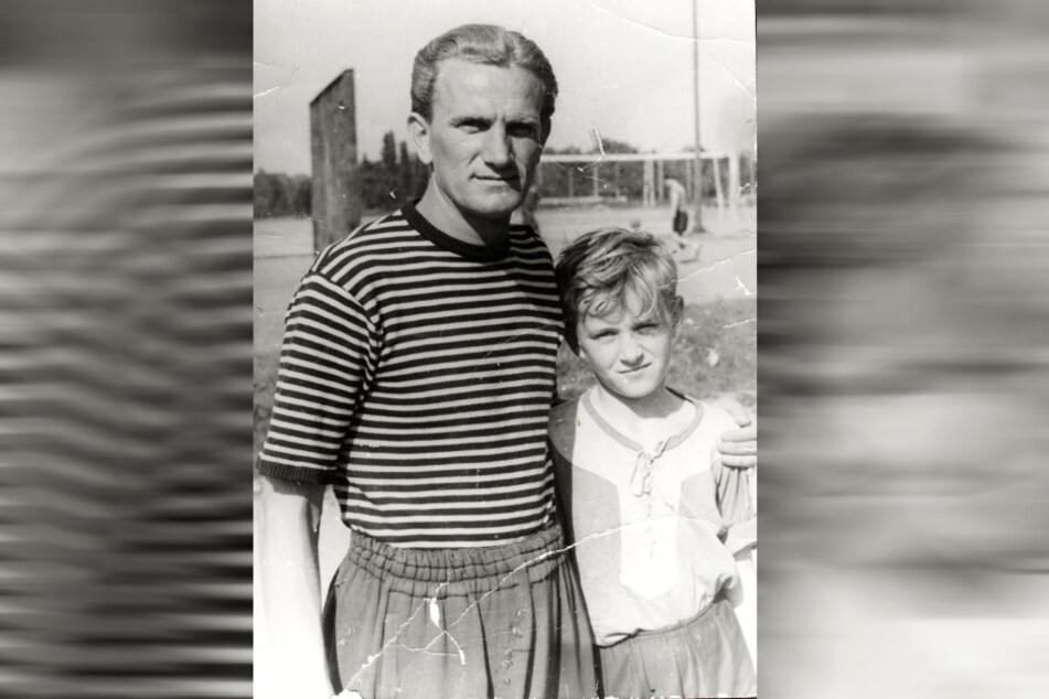 Zwei Kapitäne: Hans Kreische (l.) mit seinem Sohn Hans-Jürgen Kreische. Beide waren Spielführer der SGD.
