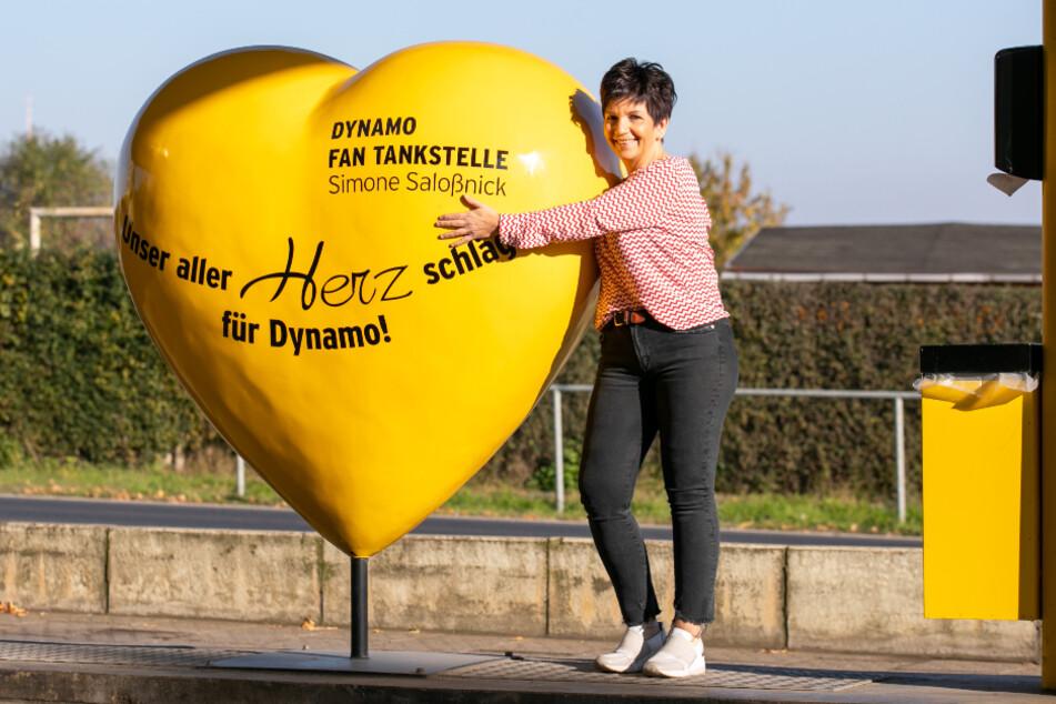 Das Herz von Simone Saloßnick schlägt für die Kicker von Dynamo Dresden und die Kinder vom Sonnenstrahl.