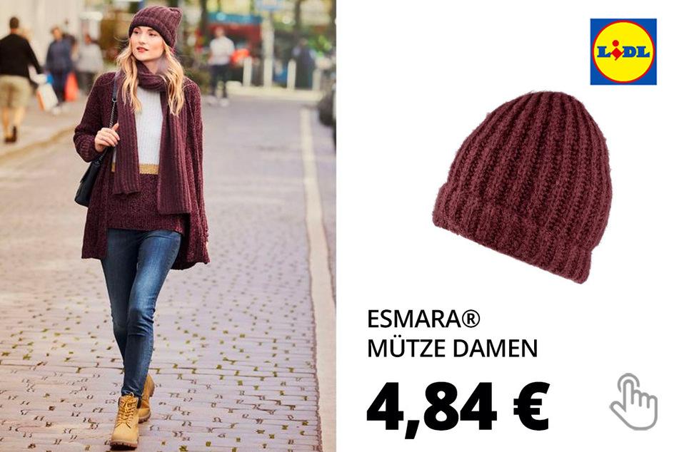 ESMARA® Damen Winteraccessoires Mütze, aus weicher und wärmender Strickqualität