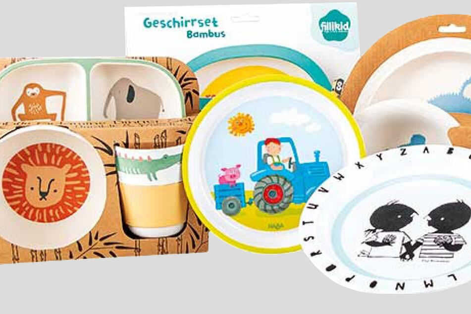 Nur ein Teil der beanstandeten Geschirr-Sets speziell für Kinder.