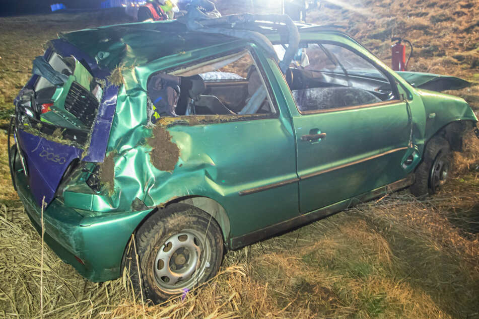 Heftiger Crash auf A72 bei Chemnitz: Polo überschlägt sich, mehrere Verletzte