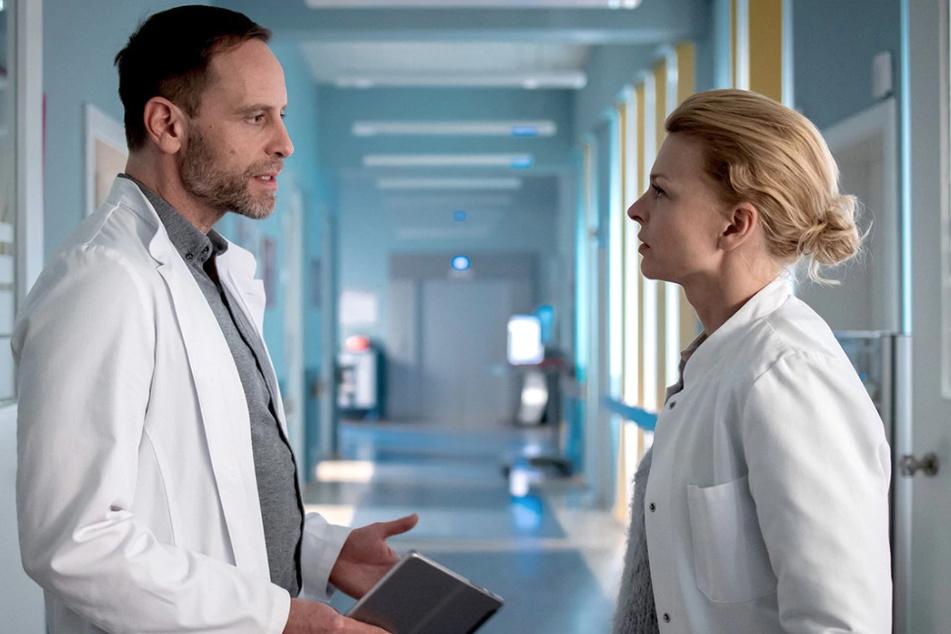 Die Gynäkologin Dr. Ina Schulte hat Chefarzt Dr. Kai Hoffmann angeboten, die Klinik wieder zu verlassen.