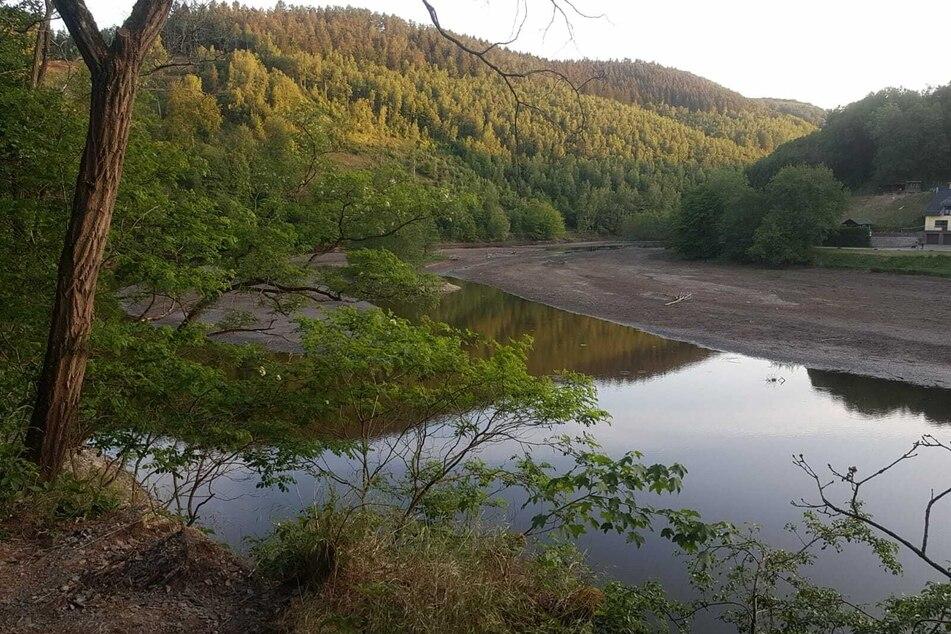 Die Rur bei Einruhr am Nationalpark Eifel Ende Mai 2020.