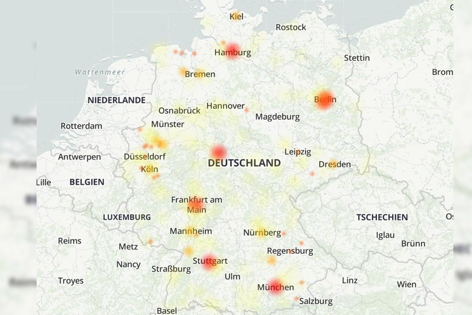 Bei dem Internet-Anbieter Vodafone wurden bundesweite Störungen gemeldet.