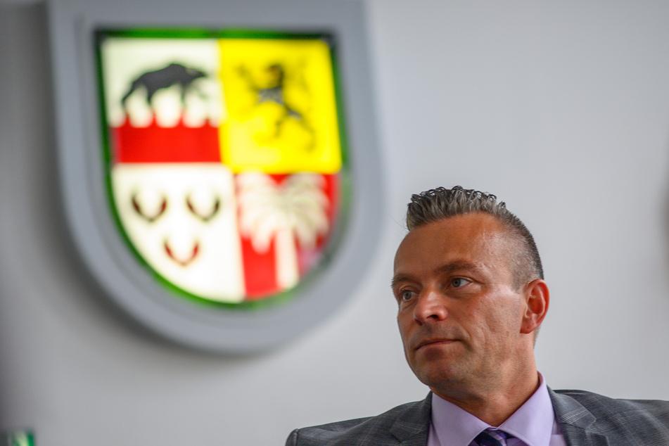 Landrat Andy Grabner (46, CDU) machte klar: Anhalt-Bitterfeld wird nach dem Hackerangriff kein Lösegeld zahlen.