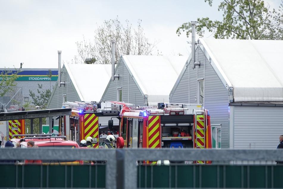 Dresden: Schon wieder brennt's: Feuerwehreinsatz in Dresdner Flüchtlingsunterkunft!
