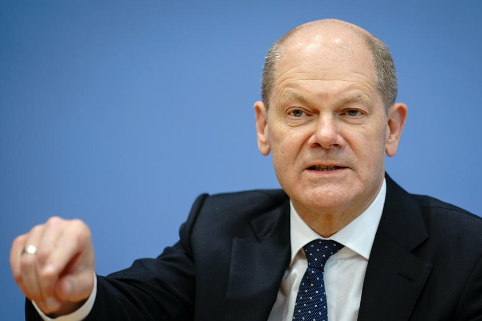 SPD-Spitzenkandidat Olaf Scholz geht auf Wahlkampftour in Potsdam