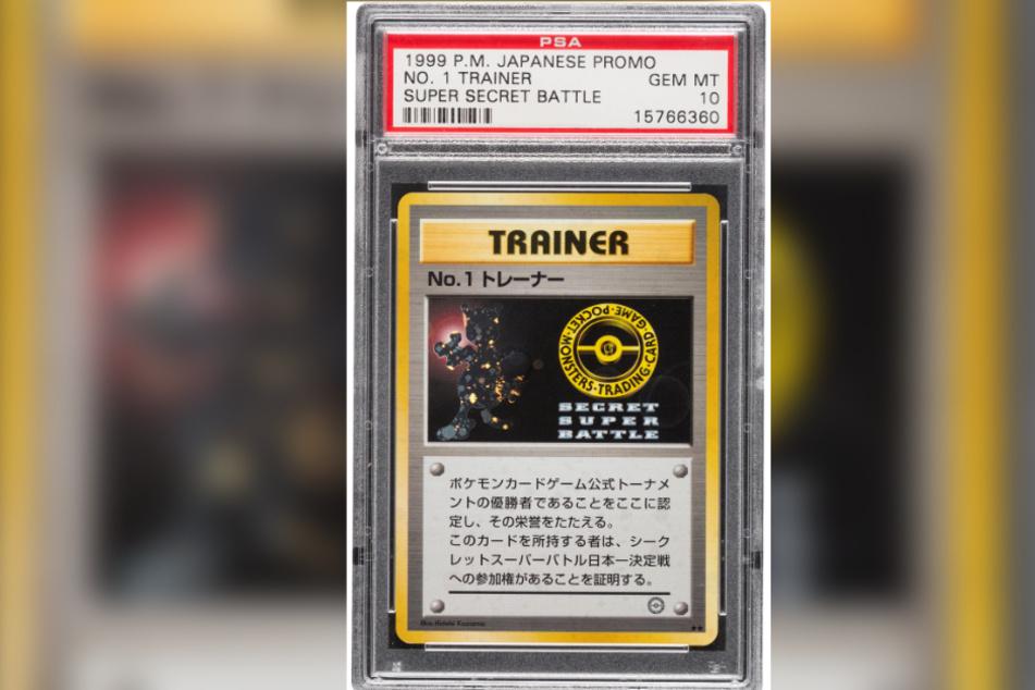 """Die extrem seltene """"Pokémon""""—Sammelkarte hat bei einer Online-Auktion in den USA 90.000 Dollar eingebracht - umgerechnet also etwa 80 000 Euro."""
