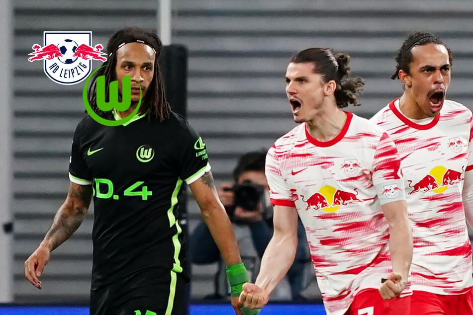 RB Leipzig mit starkem Comeback gegen VfL Wolfsburg! Bullen erkämpfen sich nach 0:2-Rückstand Remis!