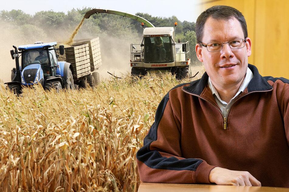 Bis zur Getreideernte muss noch viel passieren. Ordentlich Sonne und nicht zu wenig Regen wären gut, wie Andreas Jahnel (50) weiß.