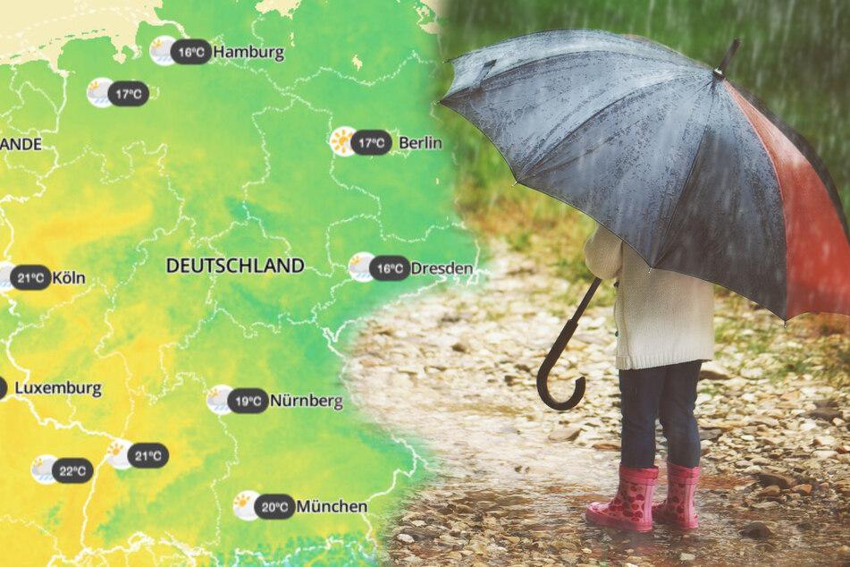"""Erst bis zu 30 Grad, dann Temperatursturz: Tief """"Gudrun"""" bringt Regen und Gewitter"""