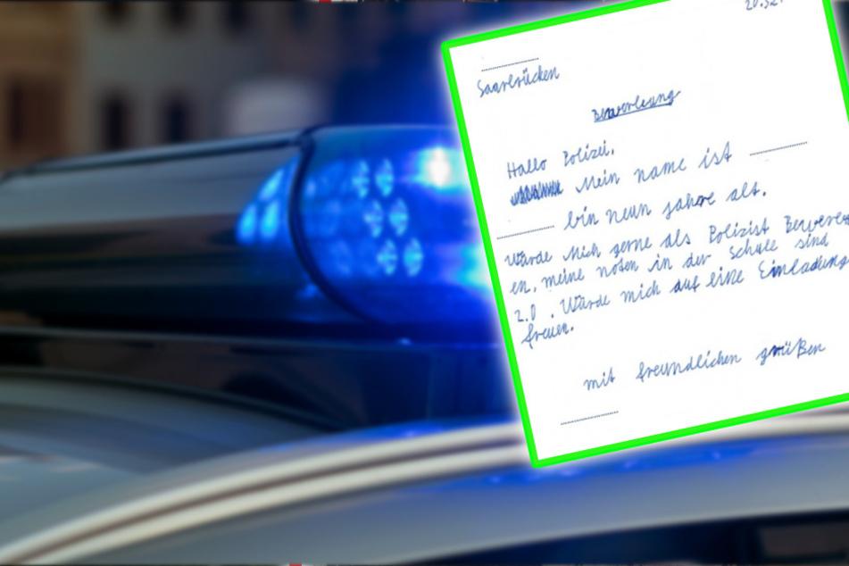 """""""Meine Noten sind 2.0"""": Grundschüler bewirbt sich mit diesem Zettel bei der Polizei!"""