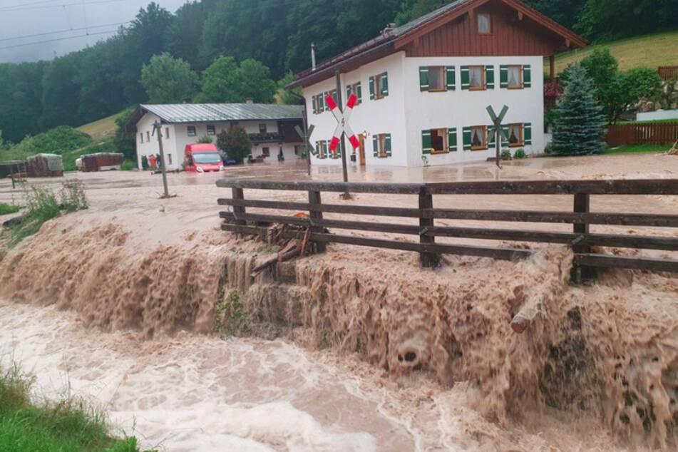 Erst vor wenigen Wochen ist das Berchtesgadener Land bereits von Wassermassen heimgesucht worden.
