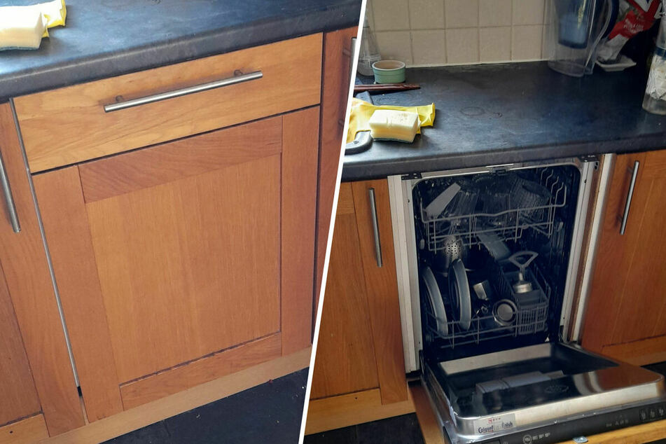 Man is shocked to find a hidden dishwasher – two years after moving in!