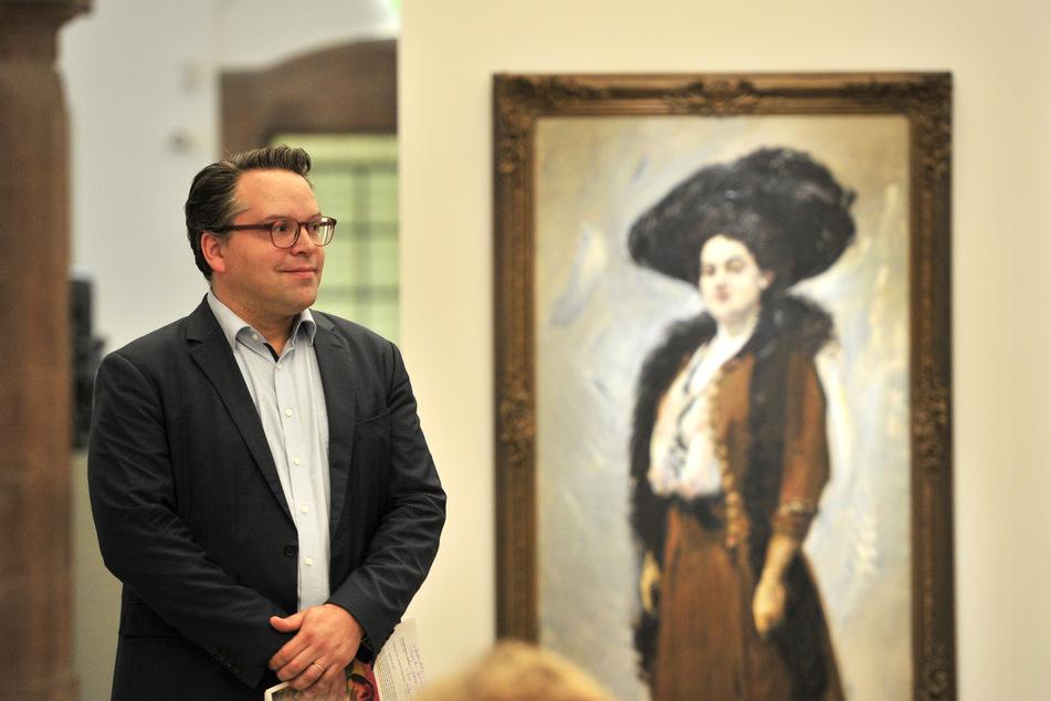 """Frédéric Bußmann (42), Generaldirektor der Kunstsammlungen verspricht für die Schau """"Im Morgenlicht der Republik"""" einige Überraschungen."""