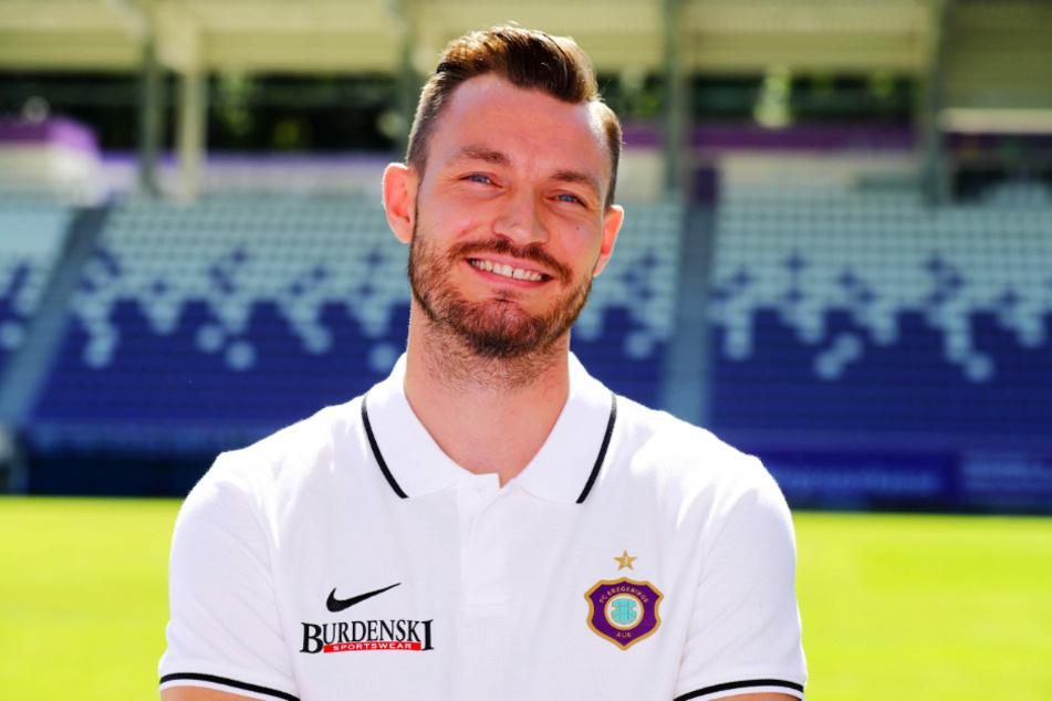 Florian Ballas (27) wechselte vor wenigen Tagen von Dynamo Dresden zum FC Erzgebirge Aue.