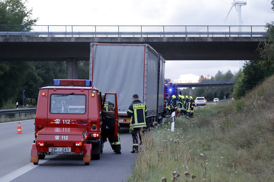 Turbolader eines Lasters auf B174 explodiert