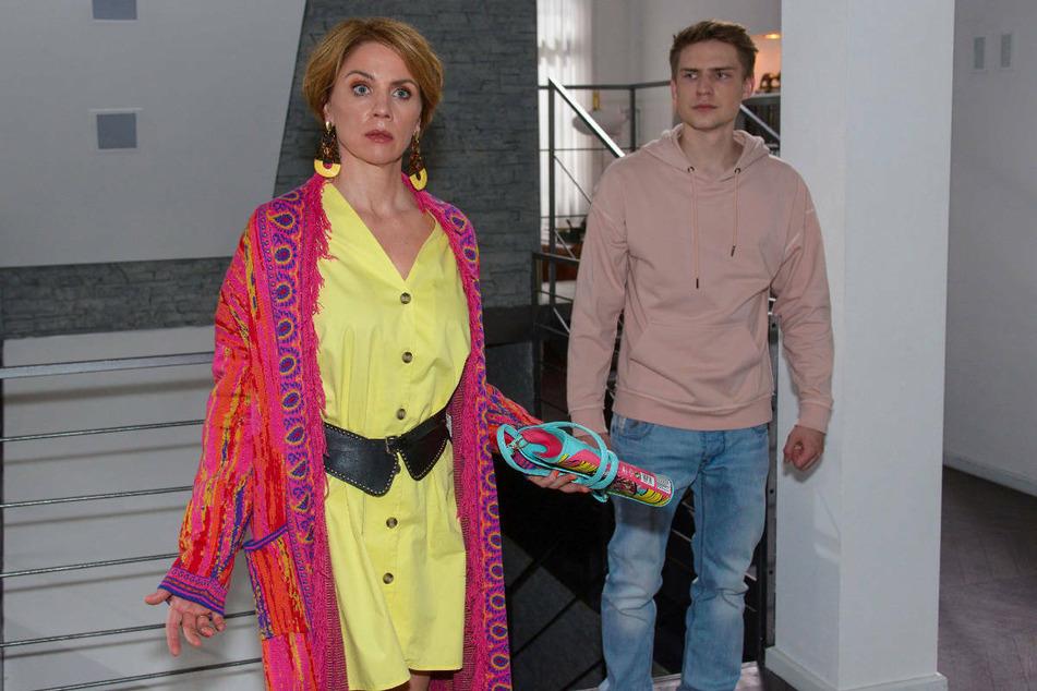 Yvonne und Moritz werden zufällig Zeugen des Streits zwischen Laura und Felix.