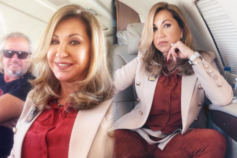 "Carmen Geiss: ""Schlag den Star"": Carmen Geiss reist top gestylt im Luxus-Jet an"