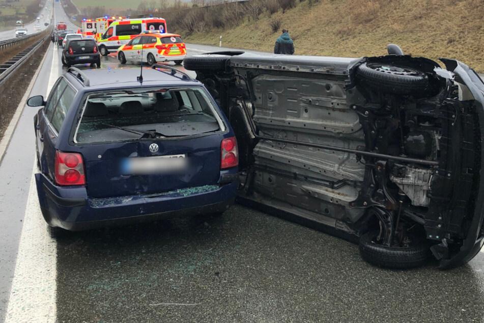 Kettenreaktion auf A9: Vier Unfälle mit 14 Autos, kilometerlanger Stau