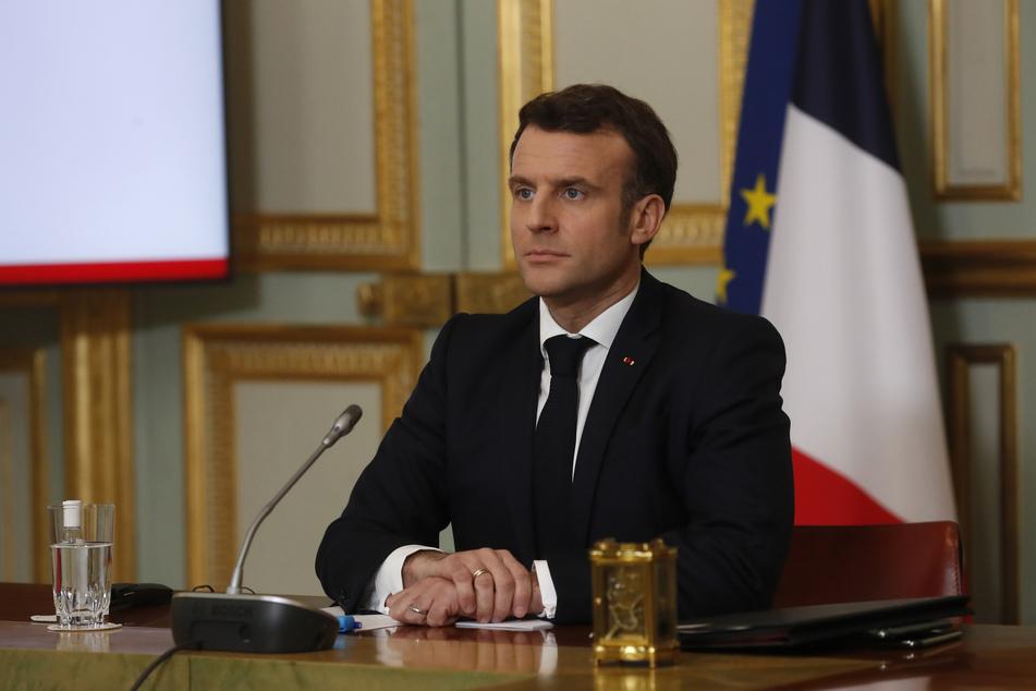 Emmanuel Macron (43), Präsident von Frankreich, beim virtuellen G7-Gipfel im Februar dieses Jahres.