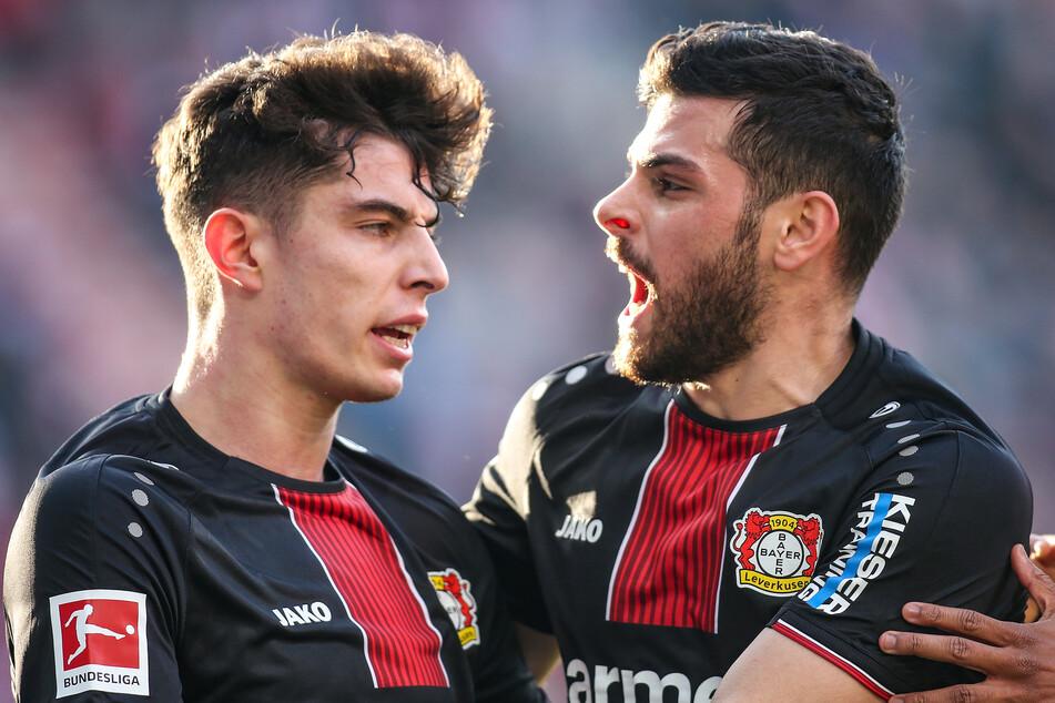 Kai Havertz (21) und Kevin Volland (28) haben Bayer Leverkusen in der Sommerpause verlassen. Sie hinterlassen ein gewaltiges Loch in der Offensive der Werkself.