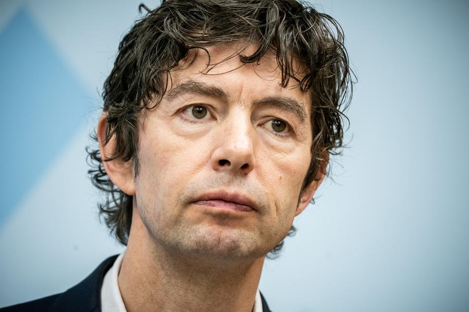 Christian Drosten, Direktor, Institut für Virologie, Charite - Universitätsmedizin Berlin, aufgenommen bei einer Pressekonferenz zum Nationalen Forschungsbündnis der Universitätsmedizin im Kampf gegen Covid-19.