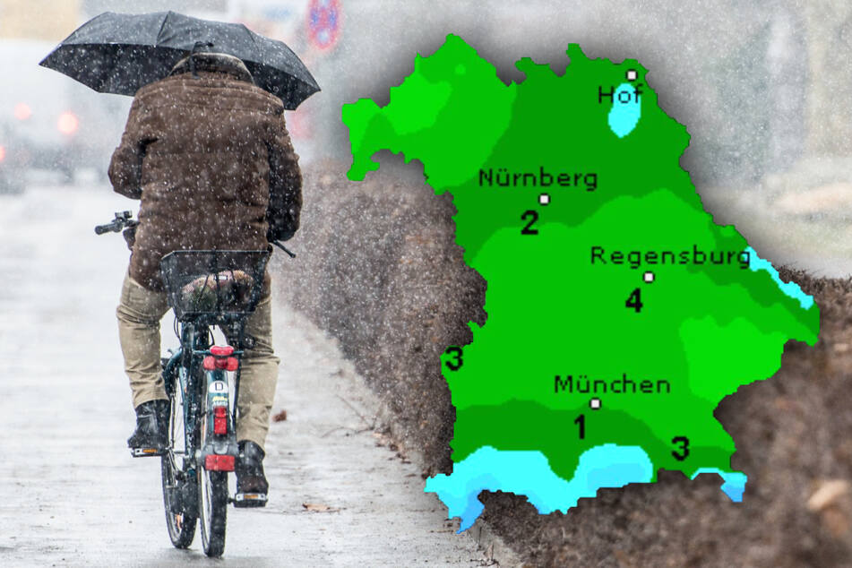 Schneeschauer! Glätte! So mies wird das Wetter im Freistaat Bayern