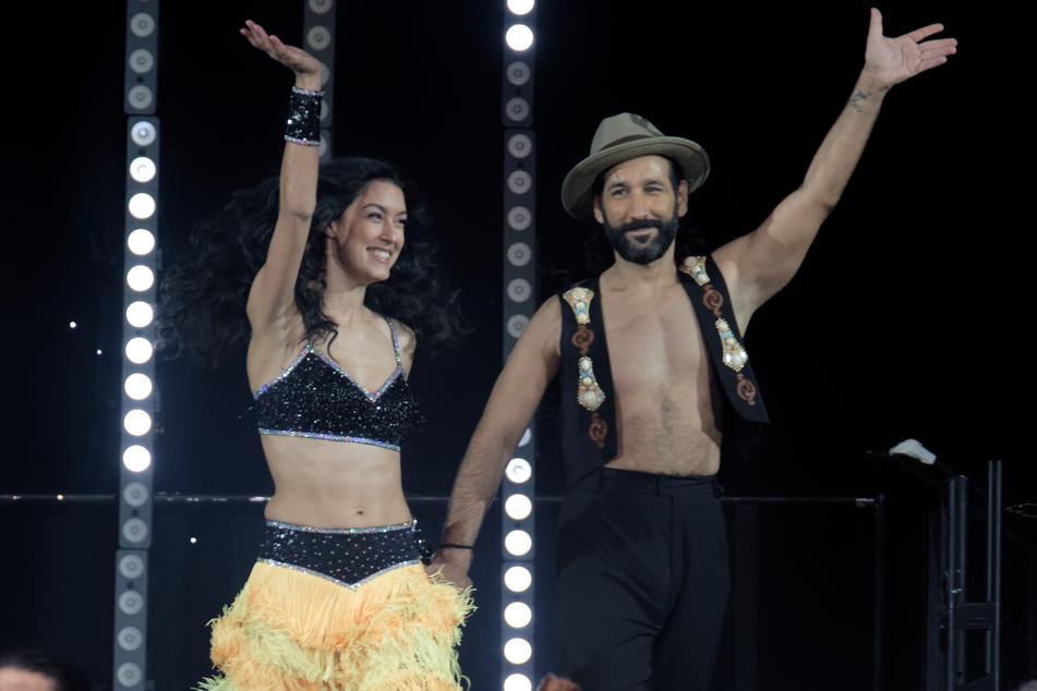 Model und Moderatorin Rebecca Mir (28) zusammen mit ihrem Ehemann, dem Tänzer Massimo Sinató (39).
