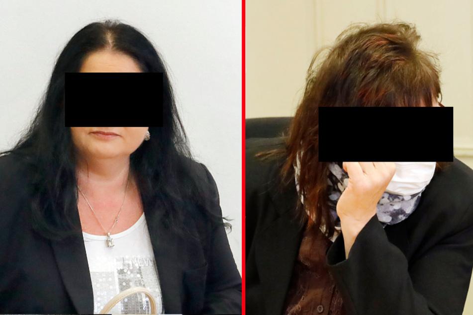Wegen Bestechung angeklagt: Anja K. (41, F.l.). Bei Undine W. (56) ging es um Bestechlichkeit. Beide Angeklagte wurden aus Mangel an Beweisen freigesprochen.