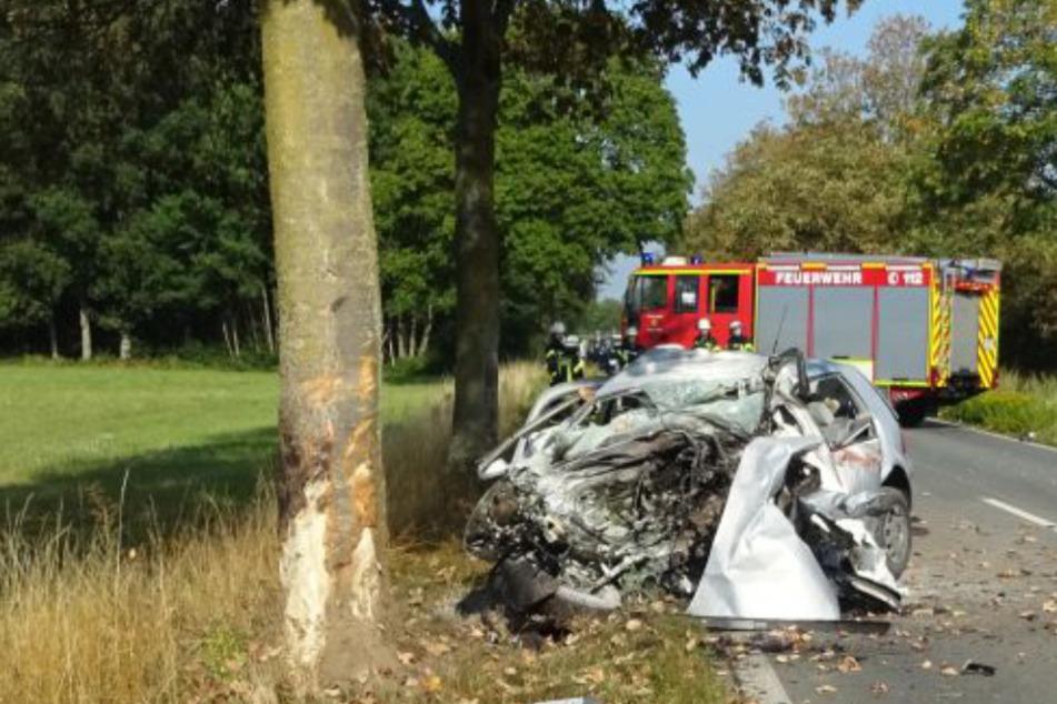 Autofahrer prallt frontal gegen Baum und stirbt noch vor Ort