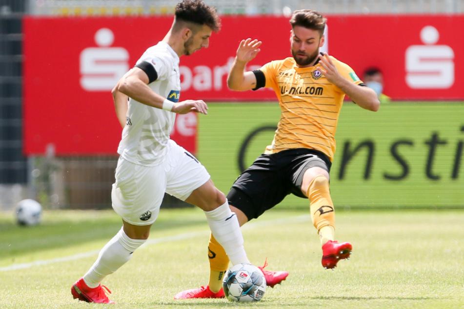 Dynamo um Niklas Kreuzer kommt offensiv noch nicht entscheidend durch.