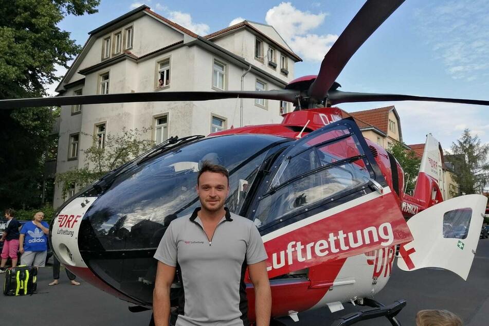 Pilot Pascal Schips (31) leistete gute Arbeit.